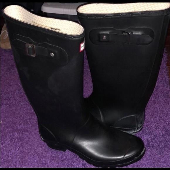 e553418dd63d Hunter Shoes   Nwot Matte Black Boots Wide Calf   Poshmark